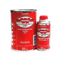 Wanda Грунт-наполнитель 670 Filler HB 4:1 серый (грунт+отв 400) 1л.