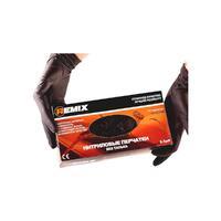 REMIX Нитриловые перчатки черные XL (100 штук)