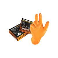Перчатки нитриловые оранжевые текстурированные свехпрочные GRIPSTER SKINS размер L (50 шт.)