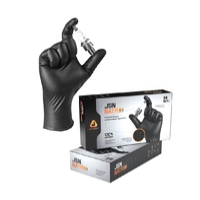 NATRIXBL11 Перчатки нитриловые нескользящие черные XXL 50 шт.