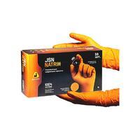 NATRIXOR10 Перчатки нитриловые нескользящие оранжевые XL 50шт.
