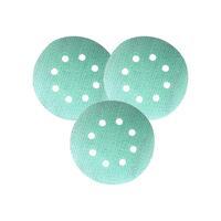 53219+ Шлифовальный круг FILM L312T+ 125мм на липучке, 8 отв, зелёный P800
